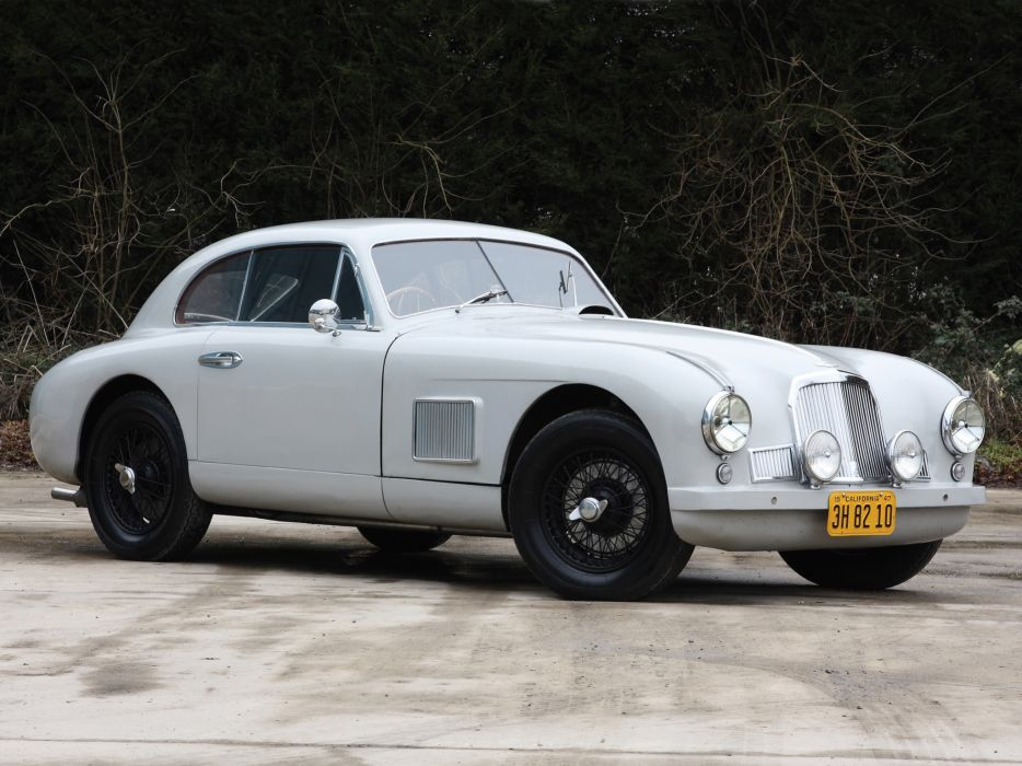 1950-53 Aston Martin DB2 Vantage Saloon retro      h wallpaper