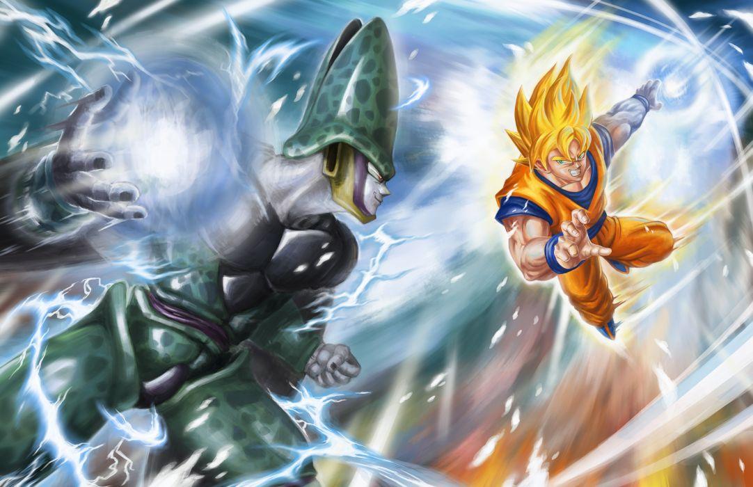 Cell Goku Dragon Ball Z Dragon Ball Dragon Ball GT wallpaper