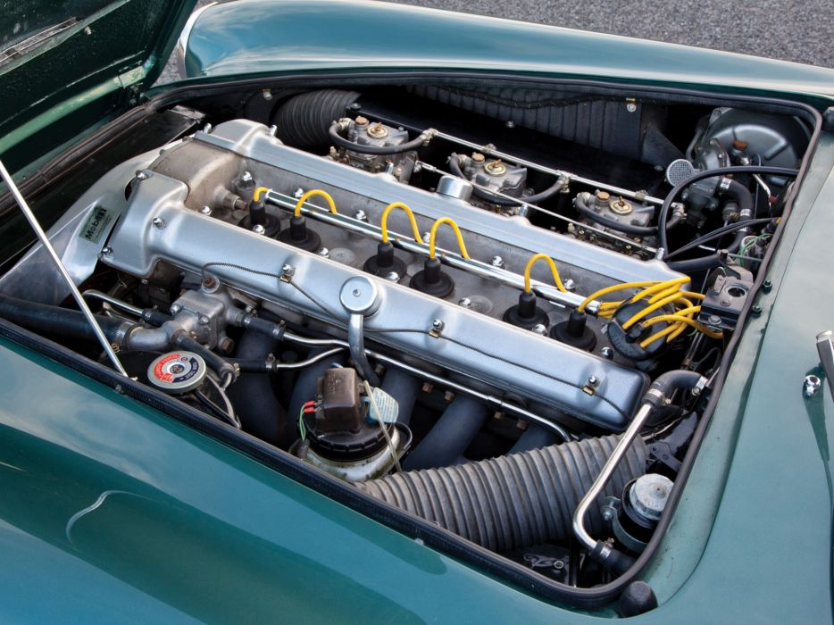 1960 Aston Martin DB4 UK-spec (Series-II) classic engine    g wallpaper