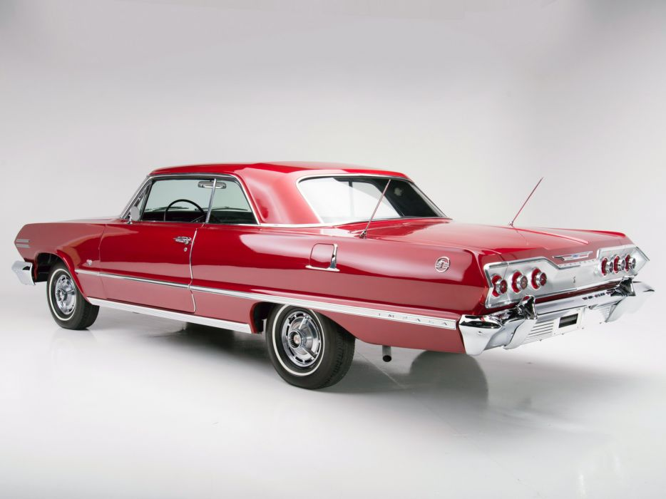 1963 Chevrolet Impala S-S 327 300HP Sport Coupe (1847) muscle classic   d wallpaper