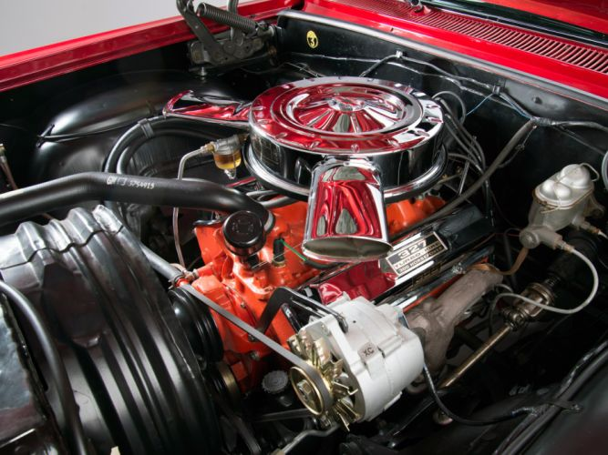 1963 Chevrolet Impala S-S 327 300HP Sport Coupe (1847) muscle classic engine d wallpaper