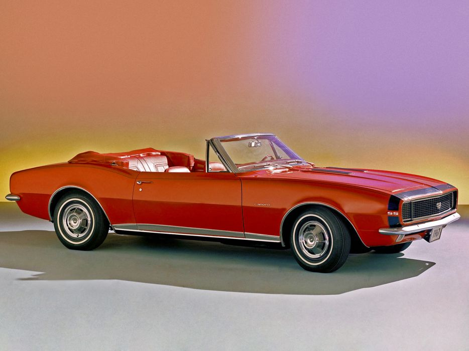 1967 Chevrolet Camaro R-S S-S 350 Convertible (12467) muscle classic        g wallpaper
