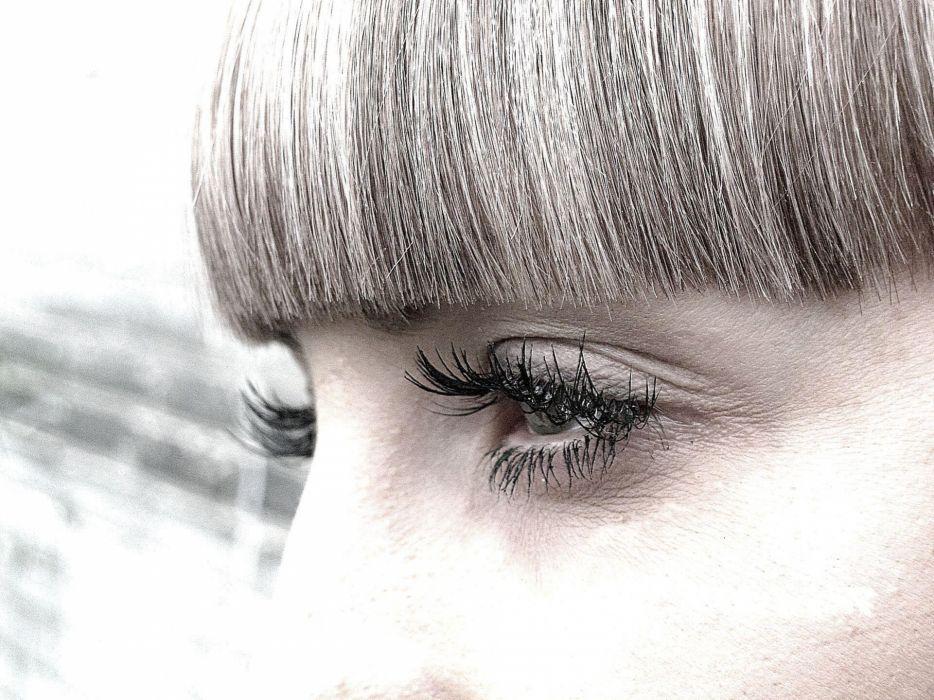 eyes fluffy macro wallpaper