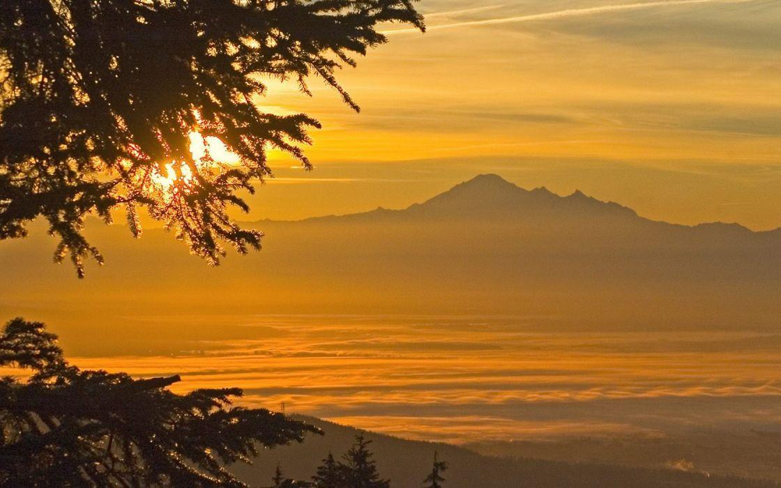 sunrise landscapes nature valleys British Columbia Baker Mount wallpaper