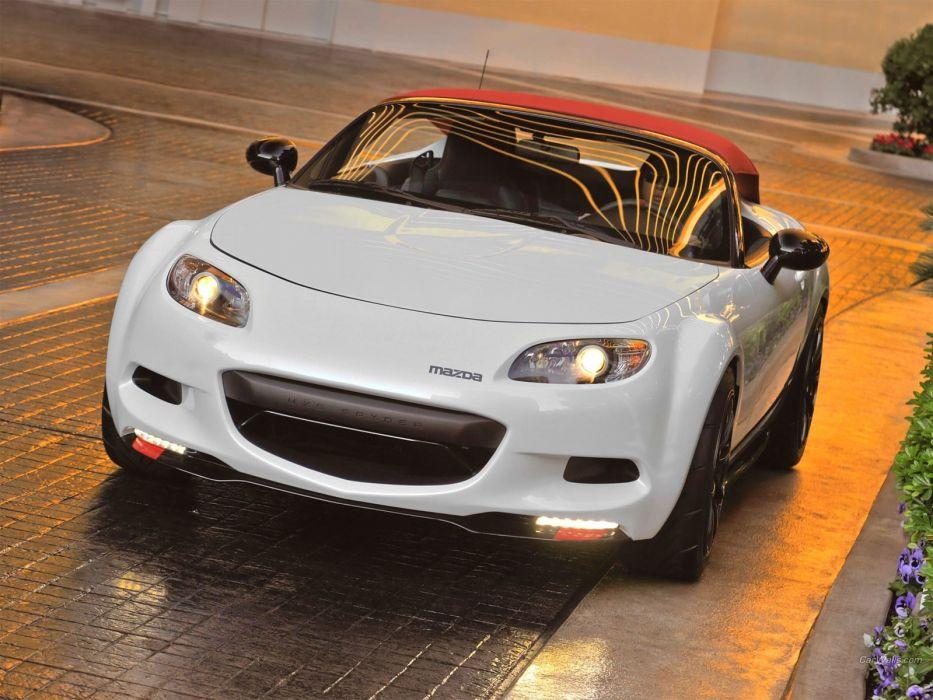 white cars Mazda spyder mx-5 wallpaper