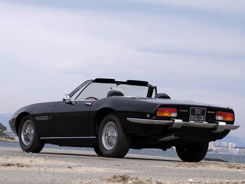 1969-73 Maserati Ghibli Spyder supercar classic  w wallpaper