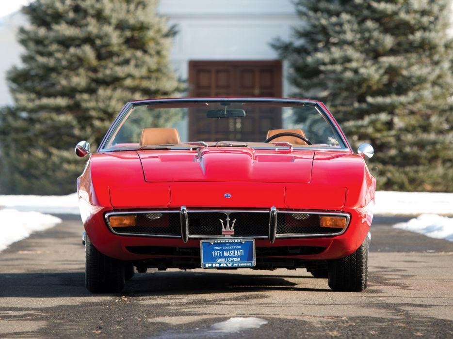 1969-73 Maserati Ghibli Spyder supercar classic  q wallpaper
