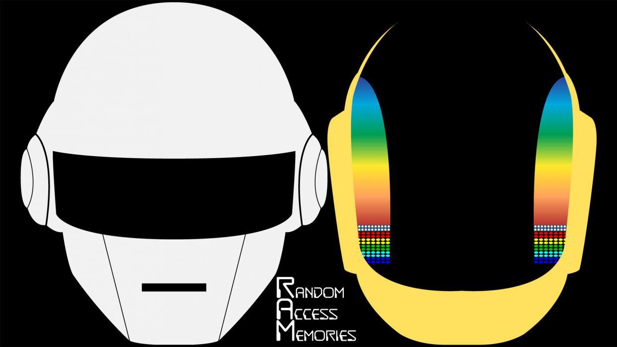 Daft Punk simple background black background Random Access Memories wallpaper
