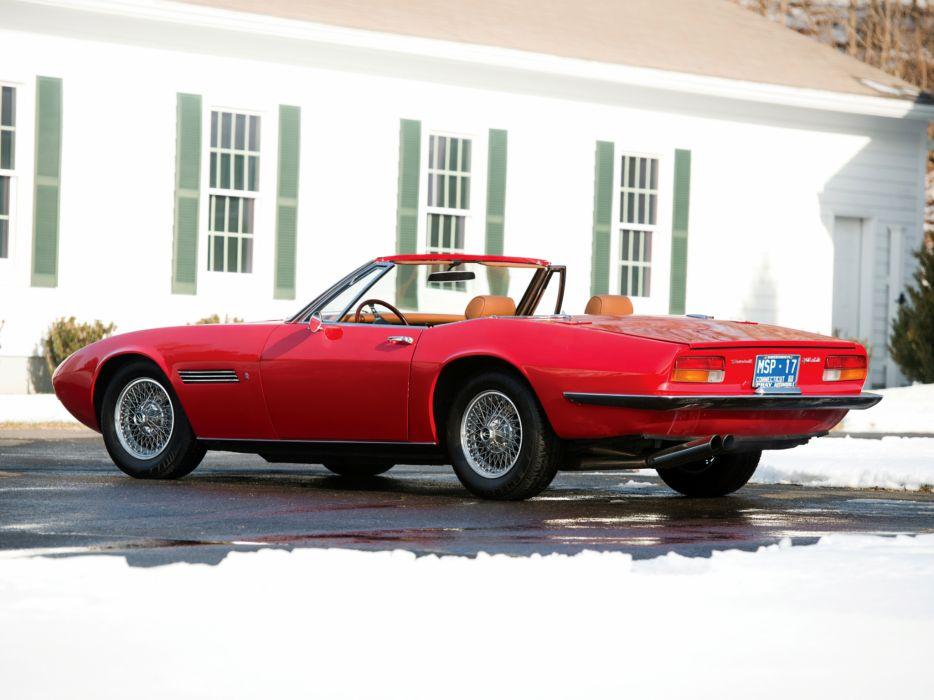 1969-73 Maserati Ghibli Spyder supercar classic     g wallpaper