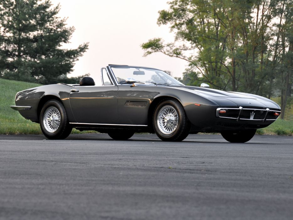 1969-73 Maserati Ghibli Spyder supercar classic      f wallpaper