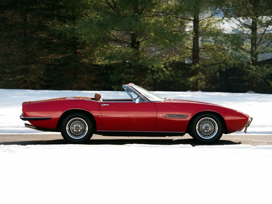 1969-73 Maserati Ghibli Spyder supercar classic        t wallpaper