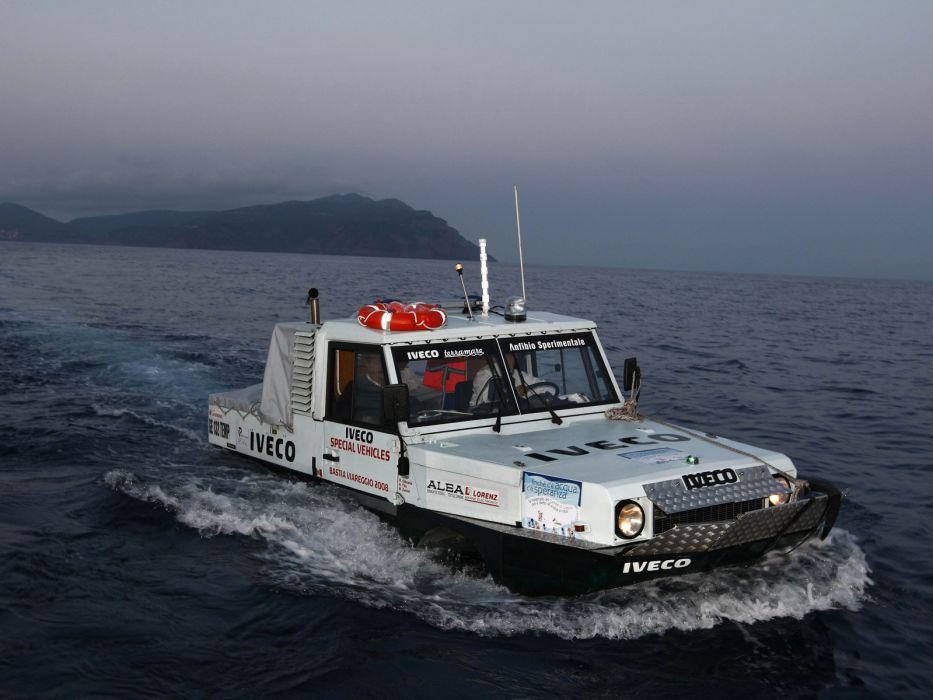 1998 Iveco Terramare police boat ship amphibious 4x4      g wallpaper