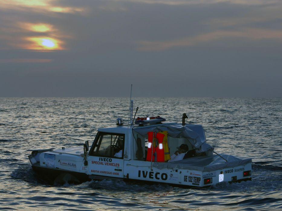 1998 Iveco Terramare police boat ship amphibious      f wallpaper