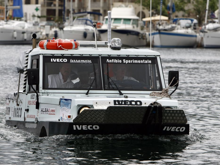 1998 Iveco Terramare police boat ship amphibious 4x4  h wallpaper