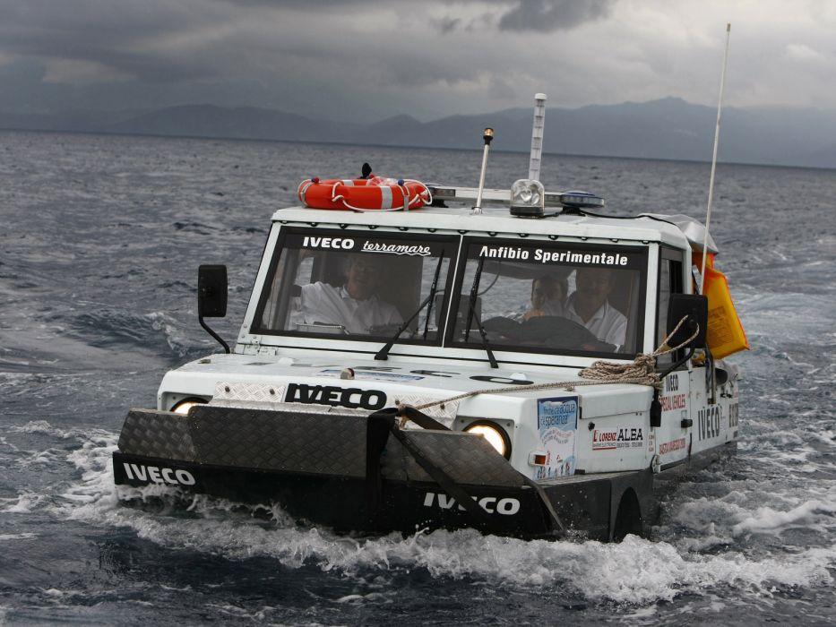1998 Iveco Terramare police boat ship amphibious 4x4   d wallpaper