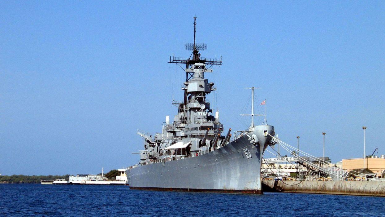 military ships navy boats USS Missouri vehicles battleships wallpaper