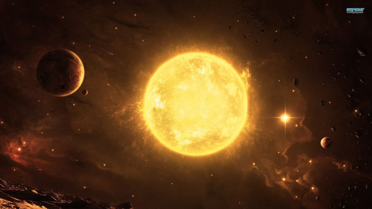 Sun outer space Solar System planets wallpaper