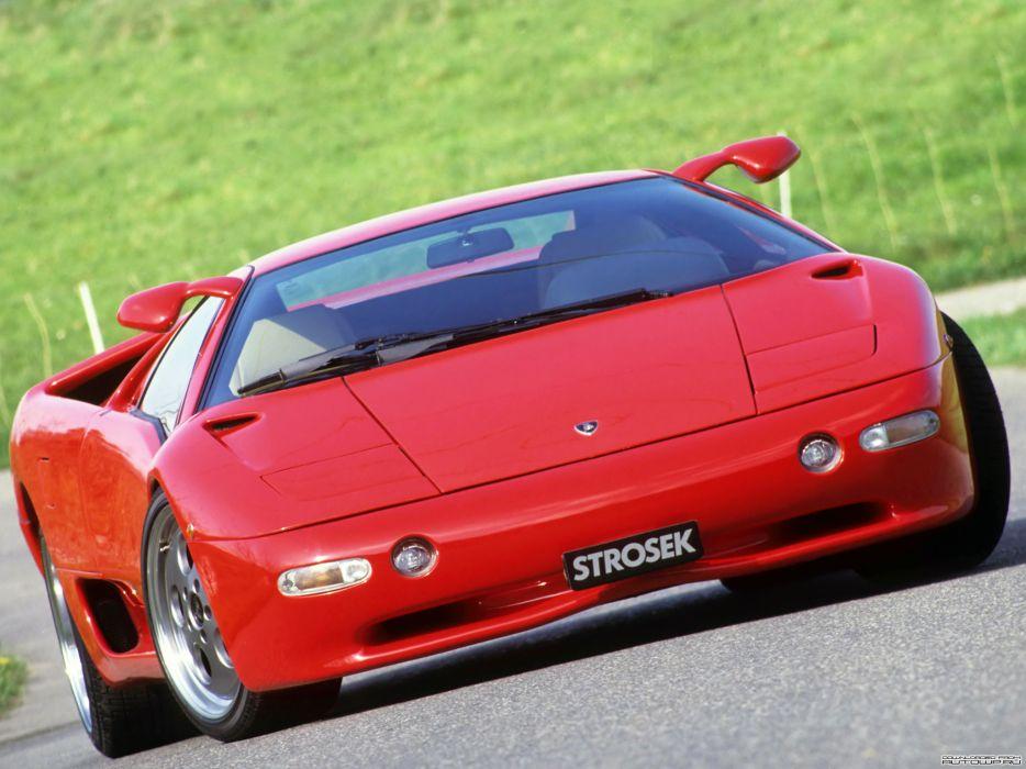 Strosek Lamborghini Diablo supercar     f wallpaper