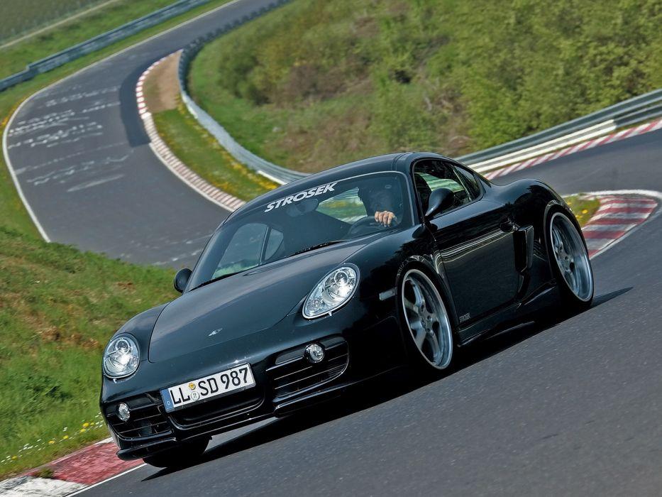 Strosek Porsche Cayman S tuning       f wallpaper