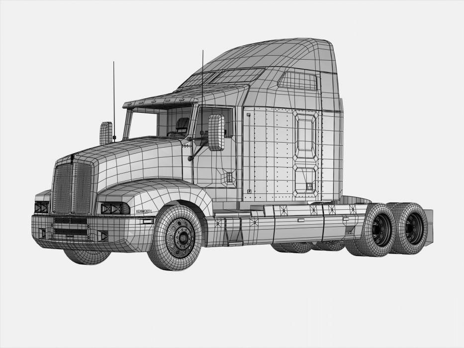 KENWORTH W900 semi tractor (67) wallpaper