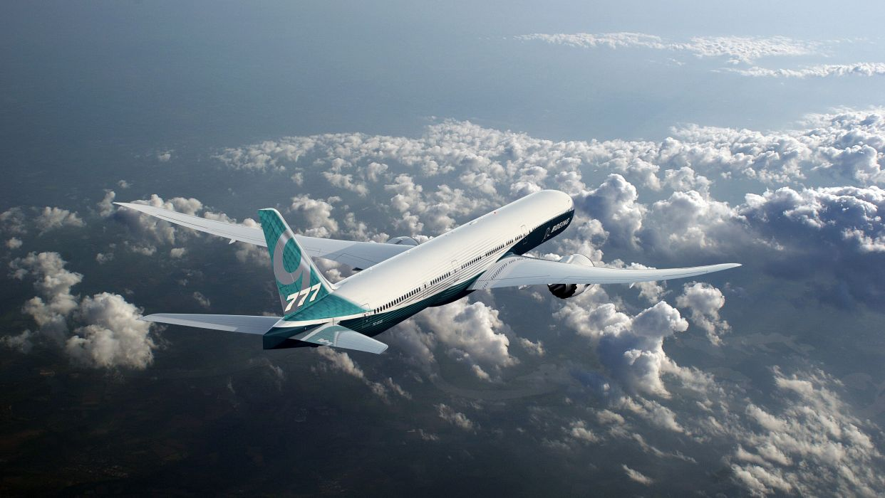 BOEING 777 airliner aircraft airplane plane jet (10) wallpaper