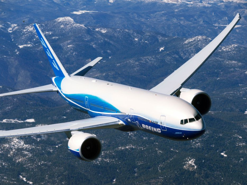 BOEING 777 airliner aircraft airplane plane jet (16) wallpaper