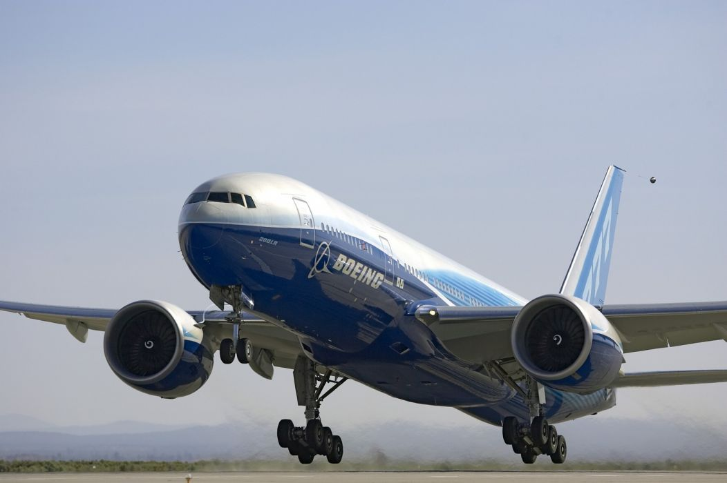 BOEING 777 airliner aircraft airplane plane jet (34) wallpaper