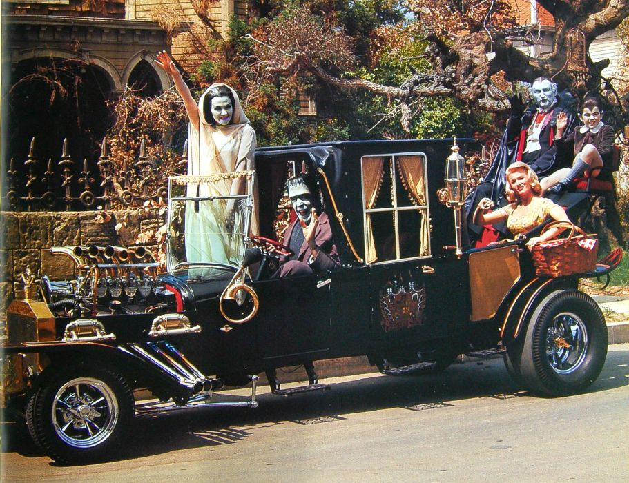 THE-MUNSTERS comedy dark frankenstein munsters halloween television hot rod rods (4) wallpaper