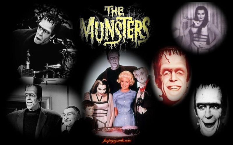 THE-MUNSTERS comedy dark frankenstein munsters halloween television (9) wallpaper