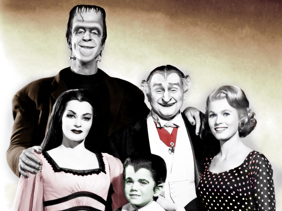 THE-MUNSTERS comedy dark frankenstein munsters halloween television (37) wallpaper