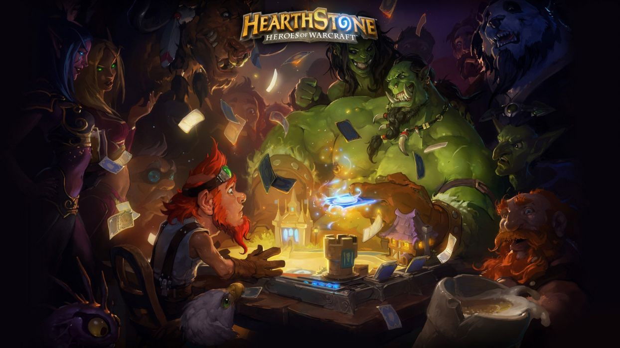 HEARTHSTONE HEROES OF WARCRAFT fantasy world (3) wallpaper