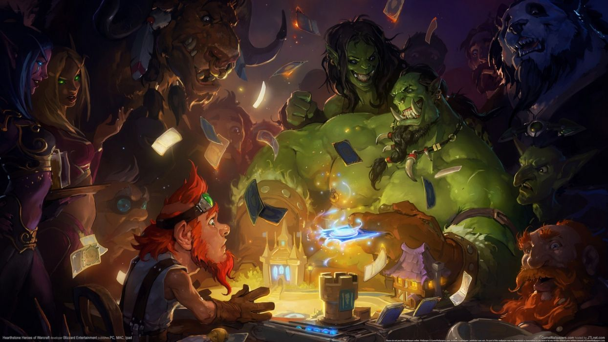 HEARTHSTONE HEROES OF WARCRAFT fantasy world (4) wallpaper
