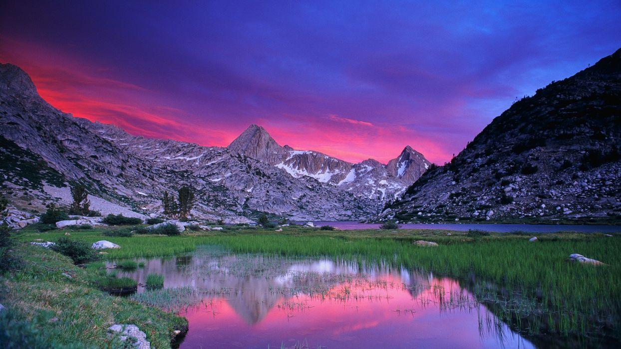 sunset canyon California National Park wallpaper