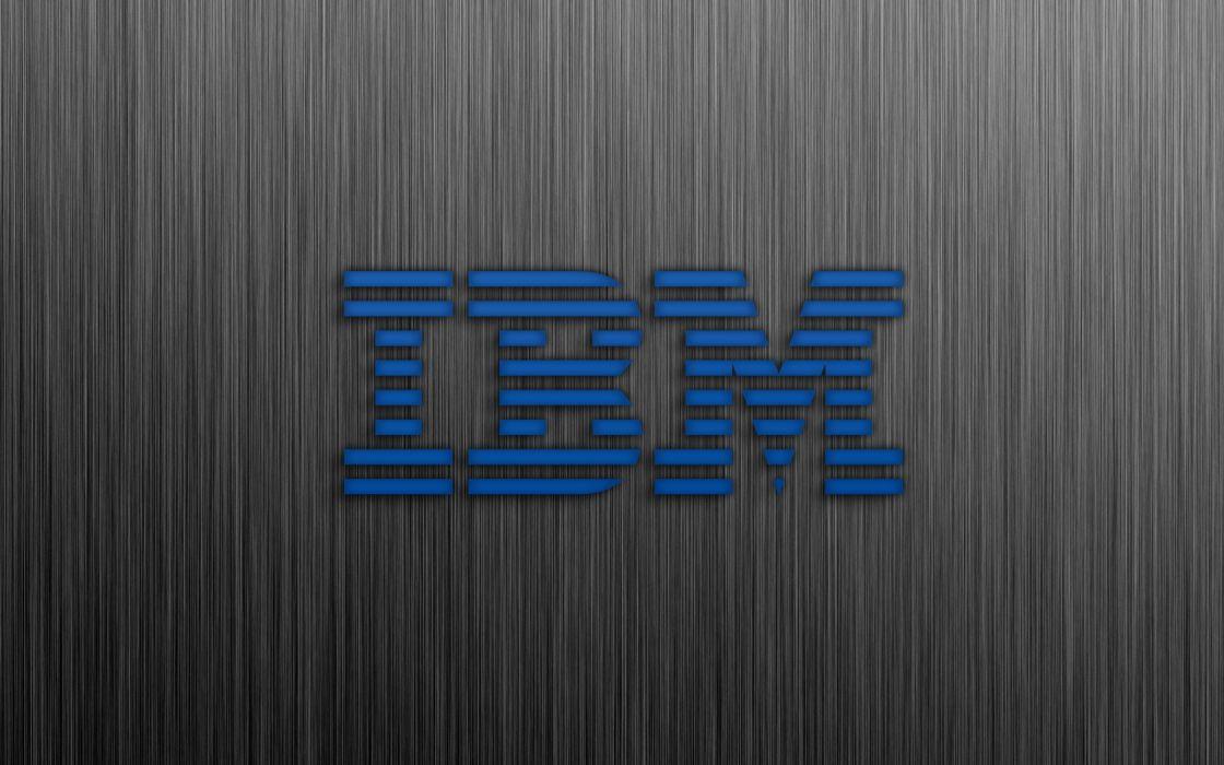 blue computers metal technology IBM brushed  wallpaper