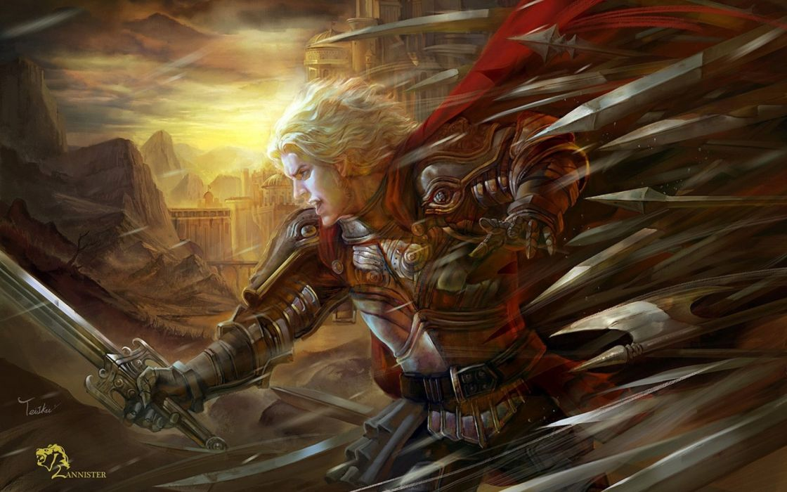 knights artwork Game of Thrones swords Jamie Lannister wallpaper