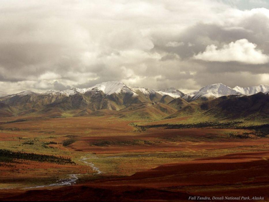 mountains landscapes nature tundra Denali wallpaper