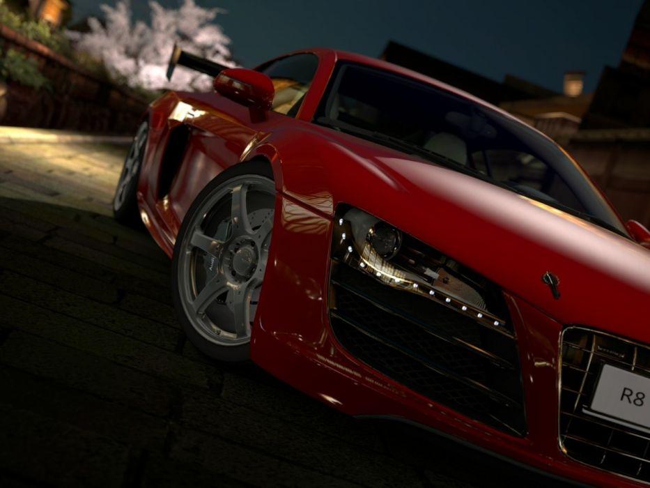 red cars Audi R8 wallpaper