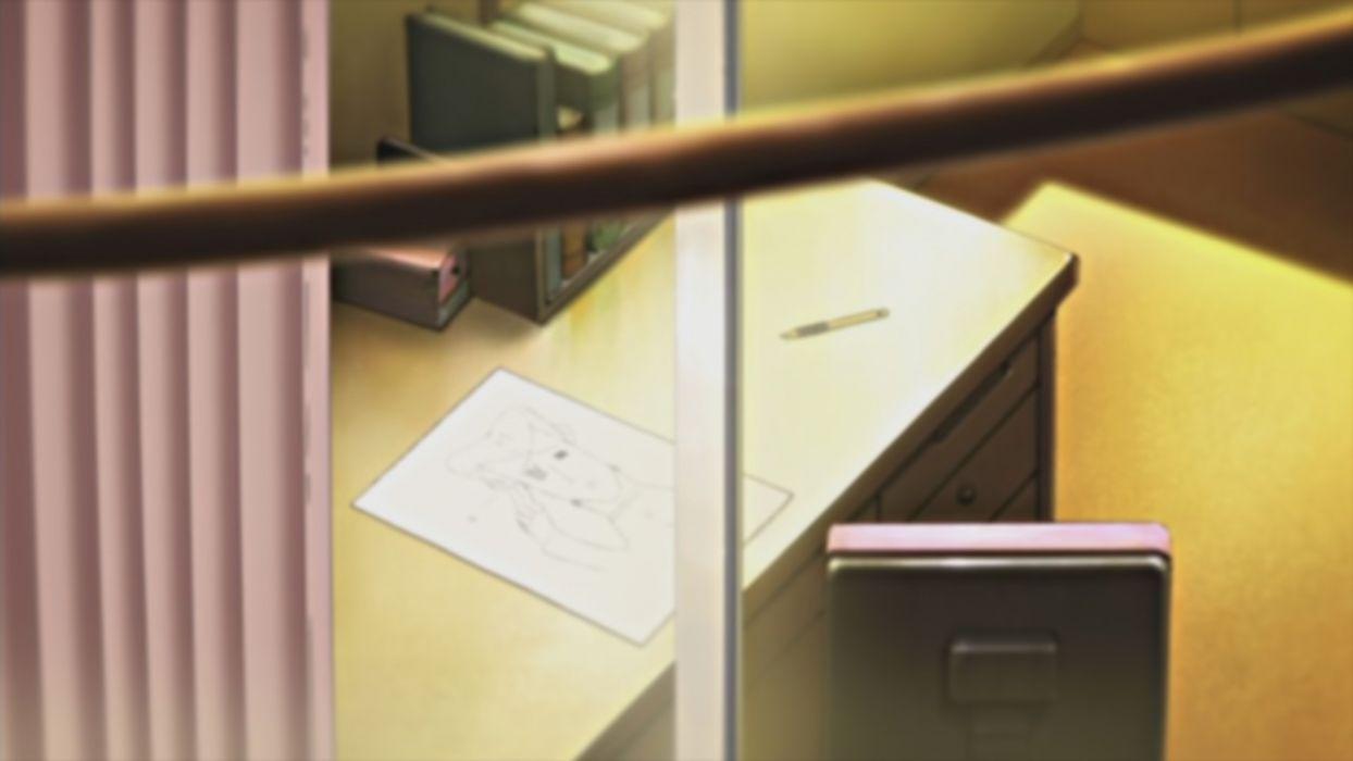 room illustrations anime desks Nichijou wallpaper