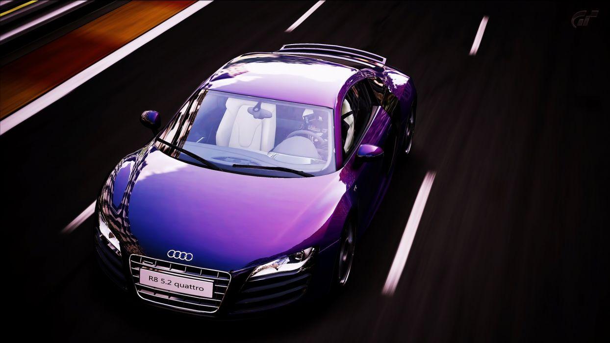 video games cars Audi Audi R8 Gran Turismo 5 races wallpaper