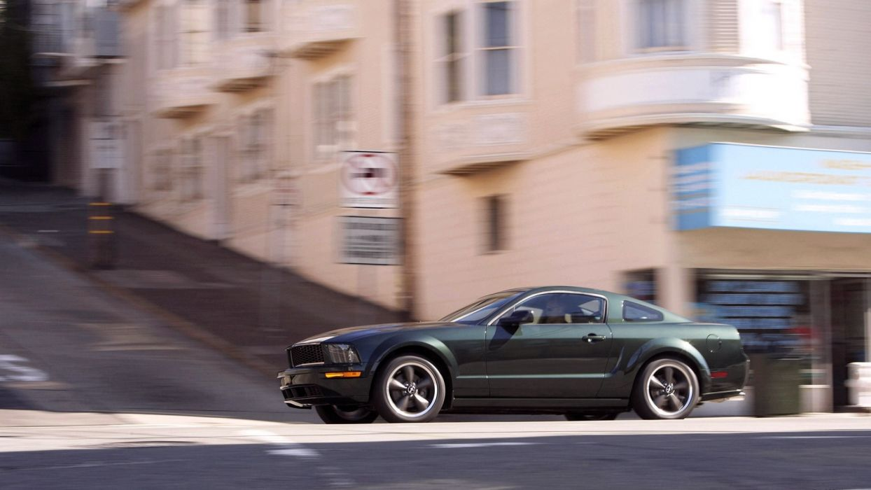 cars Ford vehicles Ford Mustang side view Ford Mustang Bullitt wallpaper