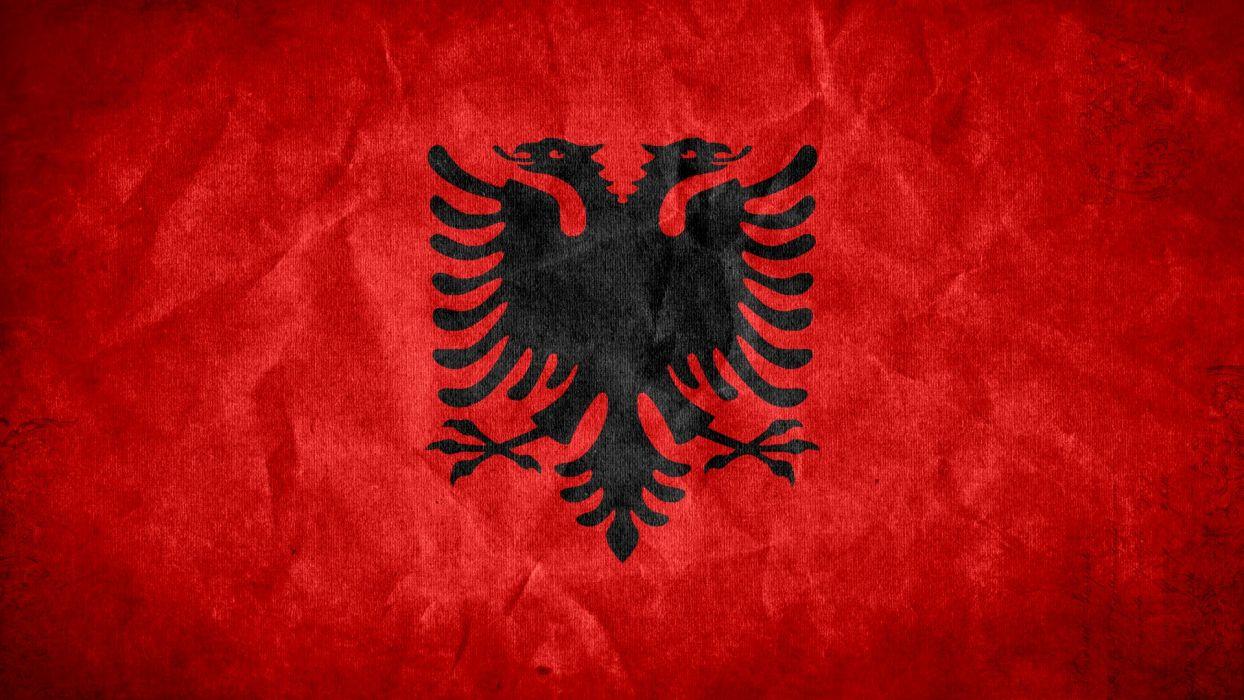 grunge flags national Albania wallpaper