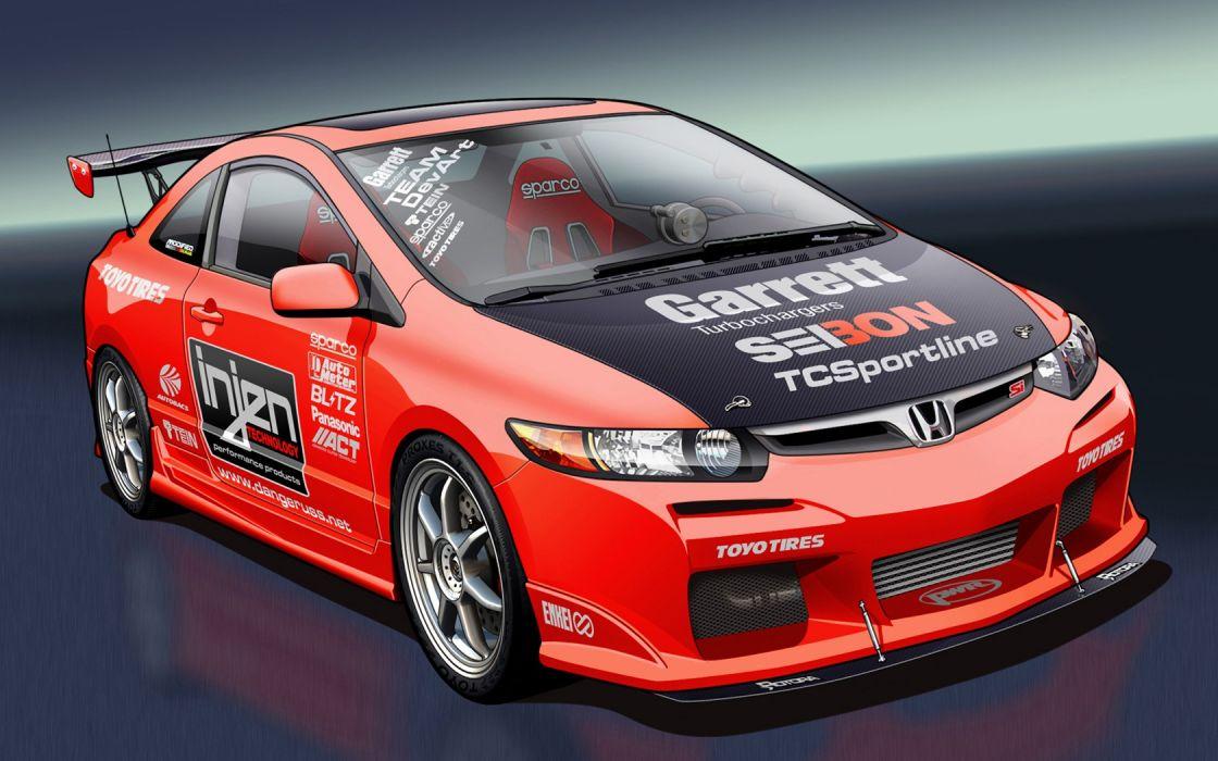 cars tuning Honda Civic Si wallpaper