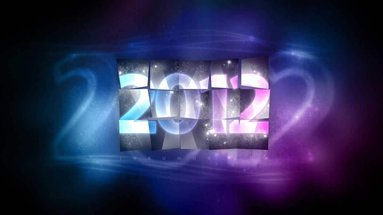 abstract blue pink New Year wallpaper