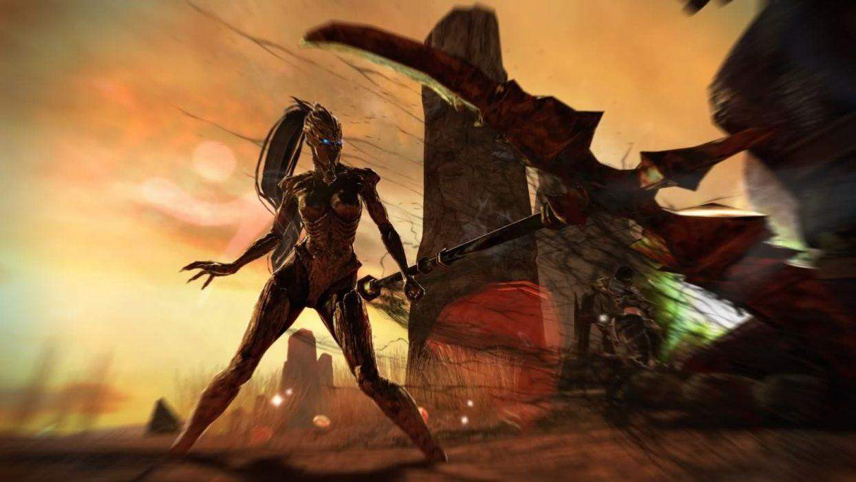 dark scythe Vindictus Nexon Games transformation Mabinogi Heroes Evie (Vindictus) wallpaper