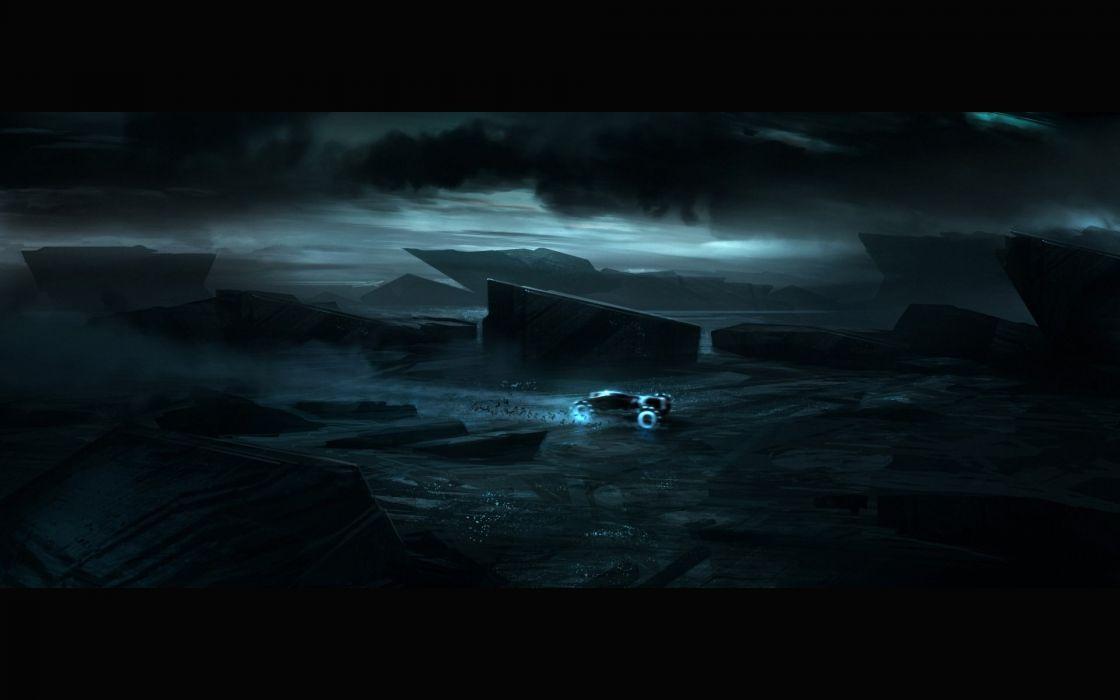 night fantasy art Tron Legacy wallpaper