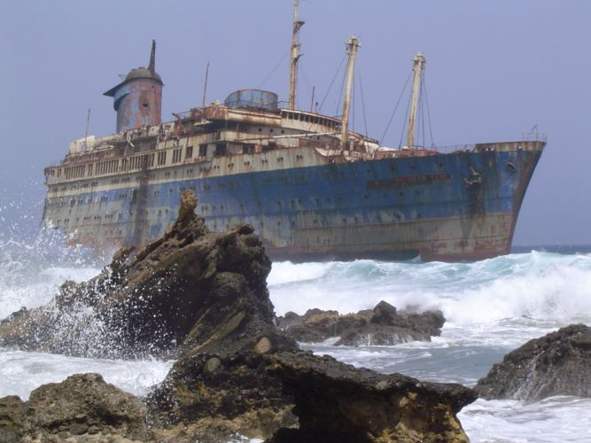 ships shipwrecks vehicles SS American Star wallpaper