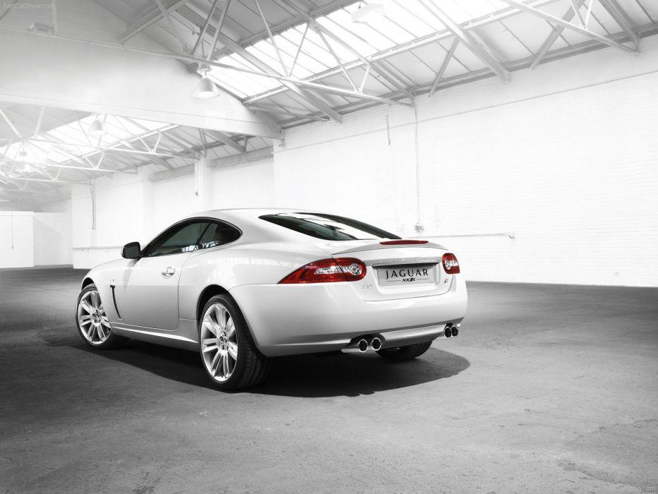 white cars Jaguar XKR wallpaper