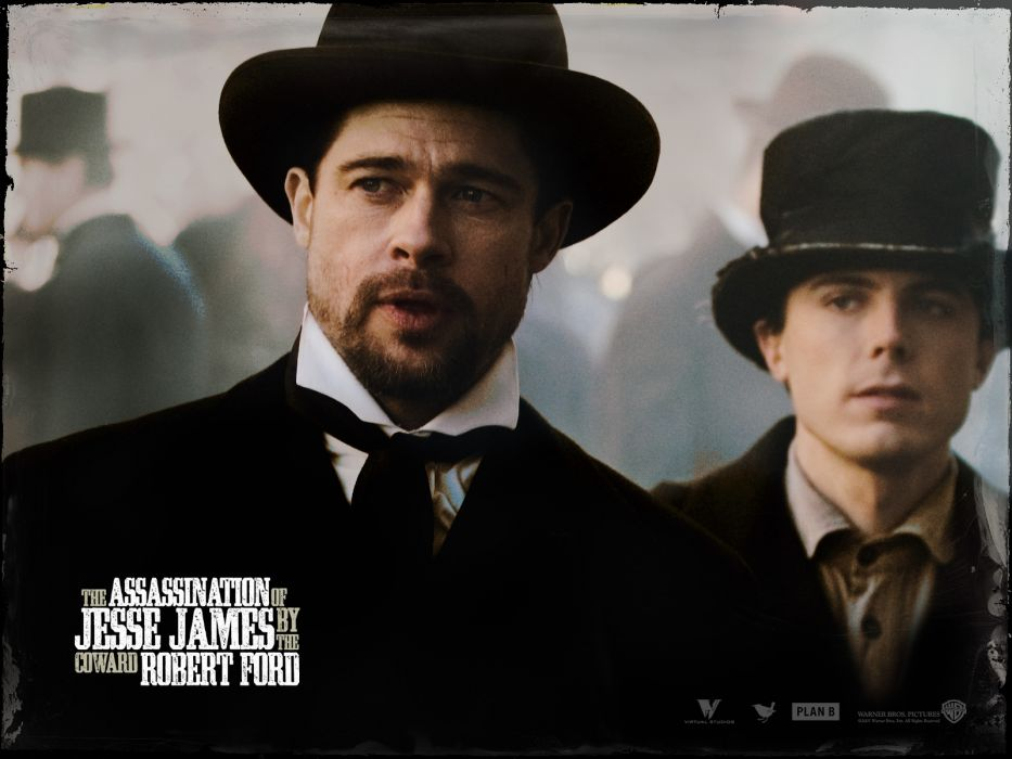 Brad Pitt Casey Affleck The Assassination of Jesse James by the Coward Robert Ford wallpaper