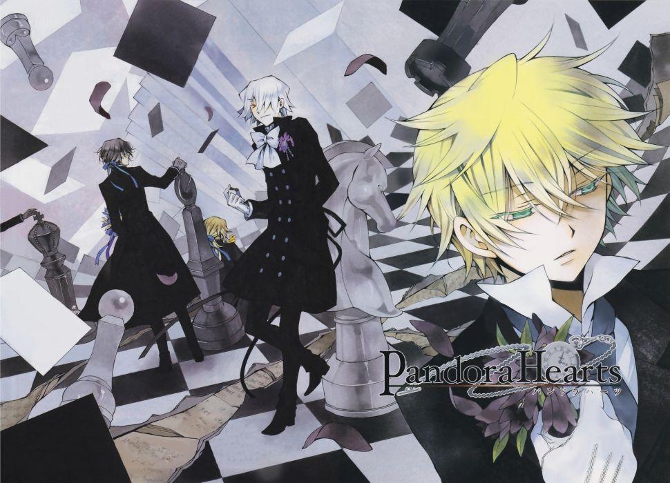 chess Pandora Hearts anime chess pieces anime boys Gilbert Nightray Oz Vessalius Xerxes Break wallpaper