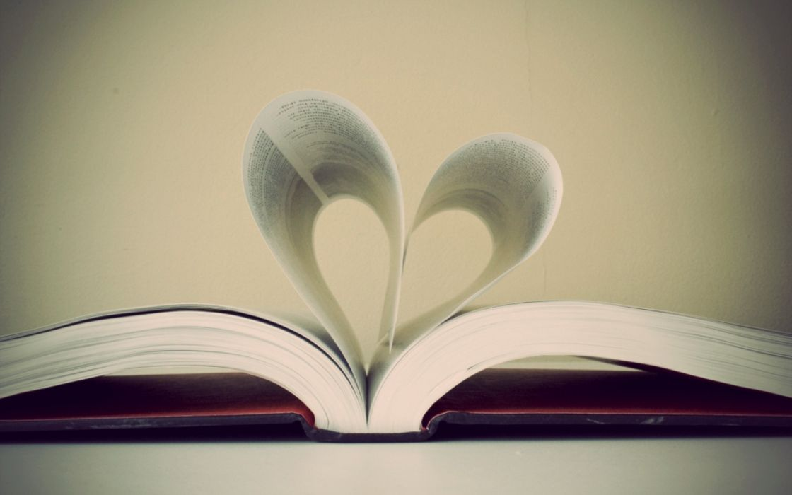 books hearts wallpaper